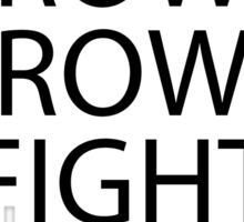 Row Row Fight Da Powah Anime Manga Shirt Sticker