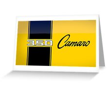 Yellow Camaro Greeting Card