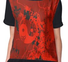 Organic Religion (red) by Cal-and-Ra Chiffon Top