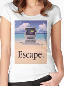 Vaporwave Macintosh Women's Fitted Scoop T-Shirt