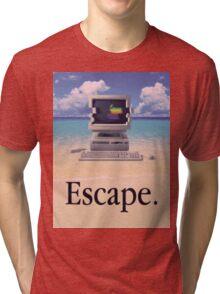 Vaporwave Macintosh Tri-blend T-Shirt