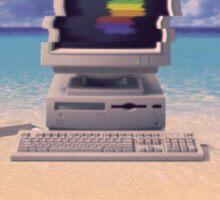 Vaporwave Macintosh Sticker