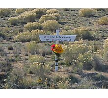 Another Resting Place For Alfred E. Neuman Photographic Print