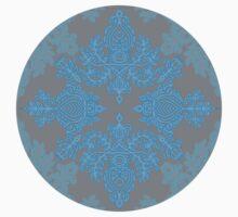 Turquoise Tangle - sky blue, aqua & grey pattern Kids Clothes