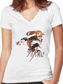 chelsea ready for battle Women's Fitted V-Neck T-Shirt