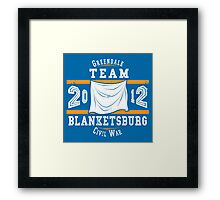 Team Blanketsburg Framed Print