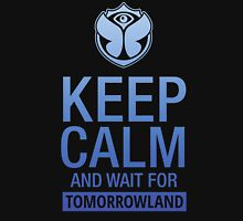 Keep Calm and wait for Tomorrowland festival - blue gradient Unisex T-Shirt