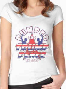 PUMPED FOR TRUMP PENCE 2016 Women's Fitted Scoop T-Shirt