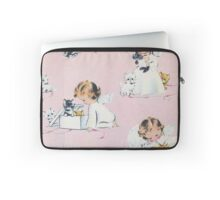 vintage,kittens,baby angels,girl,pink,cute,lovely,shabby chic Laptop Sleeve