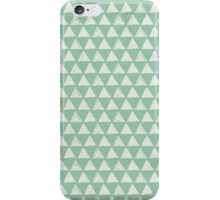 White Triangles on Mint Background Pattern iPhone Case/Skin