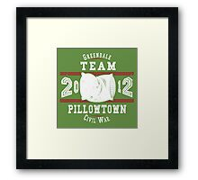 Team Pillowtown Framed Print