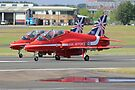 2 Reds Rolling - Farnborough 2014 by Colin  Williams Photography