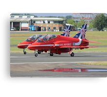 2 Reds Rolling - Farnborough 2014 Canvas Print