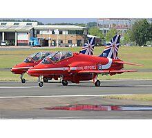 2 Reds Rolling - Farnborough 2014 Photographic Print