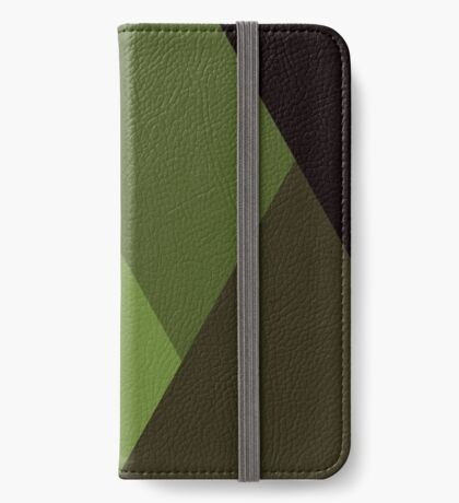 Geo Overlay -Olive/Black iPhone Wallet/Case/Skin