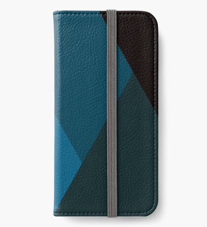 Geo Overlay -Blue/Black iPhone Wallet/Case/Skin
