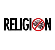No Brains in Religion Photographic Print