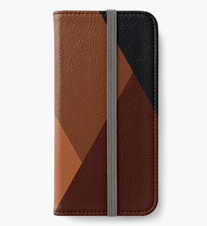 Geo Overlay -Orange/Black iPhone Wallet/Case/Skin