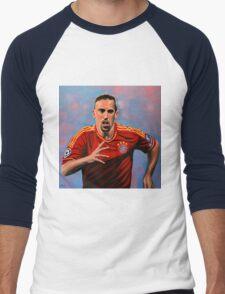 Franck Ribery painting Men's Baseball ¾ T-Shirt