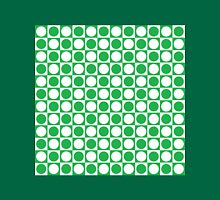 Green and White Squares and Polka Dots  Unisex T-Shirt