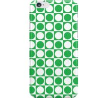 Green and White Squares and Polka Dots  iPhone Case/Skin