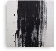 Black Brush Stroke Canvas Print