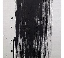 Black Brush Stroke Photographic Print