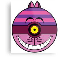 Cheshire Cat Pokemon Ball Mash-up Metal Print