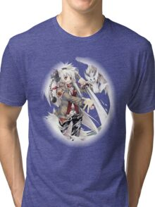 the wolf the dragon and strike Tri-blend T-Shirt