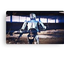 Robocop in action Canvas Print