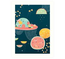 When You Wish Upon A Watermelon Art Print