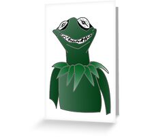 Creepy Kermit Greeting Card