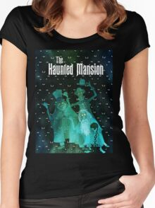 Haunted Mansion's Hitchhiking Ghosts Women's Fitted Scoop T-Shirt