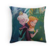 Frozen Apart Throw Pillow