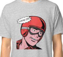 Cartoon Motorcycle - Hang On Classic T-Shirt