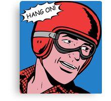 Cartoon Motorcycle - Hang On Canvas Print