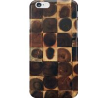 Reclaimed wood working dots carpentry iPhone Case/Skin