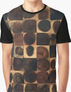 Reclaimed wood working dots carpentry Graphic T-Shirt