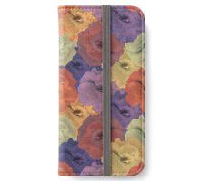 Vintage Floral Collage Pattern iPhone Wallet/Case/Skin