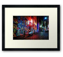 Evening in Hosier Lane Framed Print
