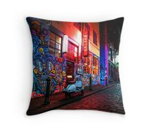Evening in Hosier Lane Throw Pillow