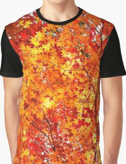 Autumn fall leaves orange Graphic T-Shirt