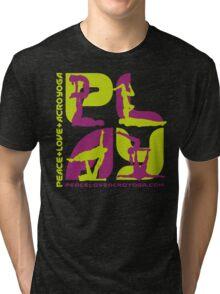 P+L+AY Poses: Green & Purple Square Tri-blend T-Shirt