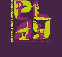 P+L+AY Poses: Green & Purple Square Unisex T-Shirt