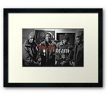 Illmatic Dream Team - Nas, DJ Premier, Q-Tip, Large Professor Framed Print