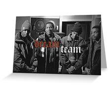 Illmatic Dream Team - Nas, DJ Premier, Q-Tip, Large Professor Greeting Card