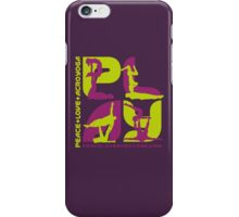 P+L+AY Poses: Green & Purple Square iPhone Case/Skin