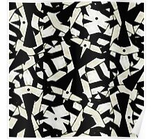 Black and White Abstract Ornament Pattern Poster