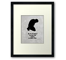 1984 Change our Enemies Framed Print