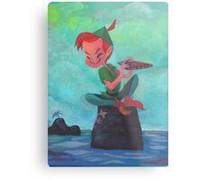Story time with Peter Pan Metal Print